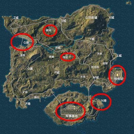 和平精英海岛地图信号枪哪里刷 位置分布攻略