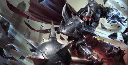 LOL铁铠冥魂莫德凯撒季前赛黑暗收割+护盾猛击玩法_S9铁男上单出装符文天赋攻略