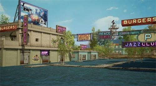 和平精英赛博朋克风格场景在哪 场景位置一览