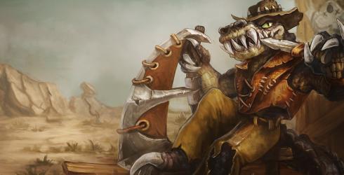 LOL季前赛荒漠屠夫雷克顿上单玩法_S9鳄鱼符文天赋出装技能加点攻略