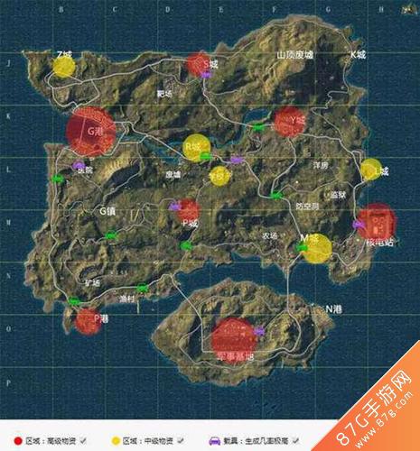 和平精英物资分布图 全地图资源标注介绍