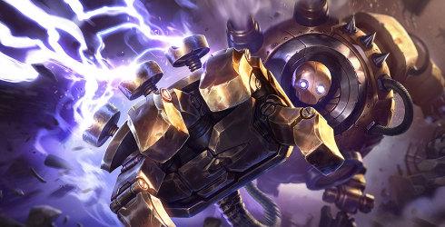 LOLS8蒸汽机器人布里茨辅助玩法_S8机器人符文天赋出装加点技能解析玩法攻略